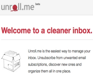Unroll me - Clean Your Email Inbox