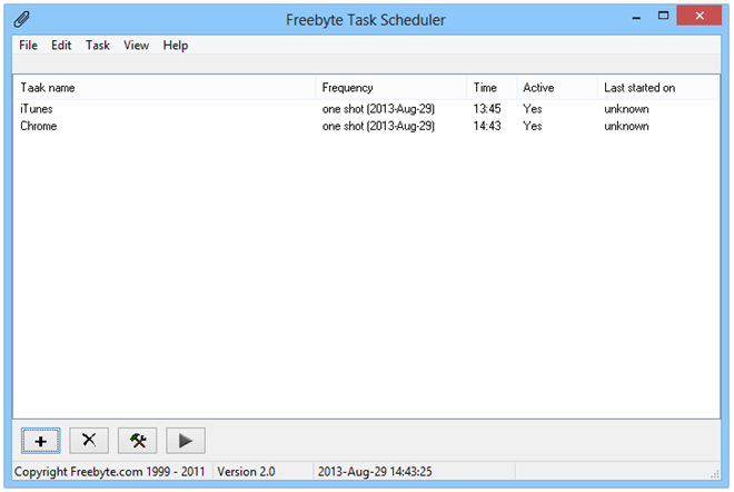 Freebyte-Task-Scheduler