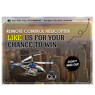 rc helicopter sweepstake