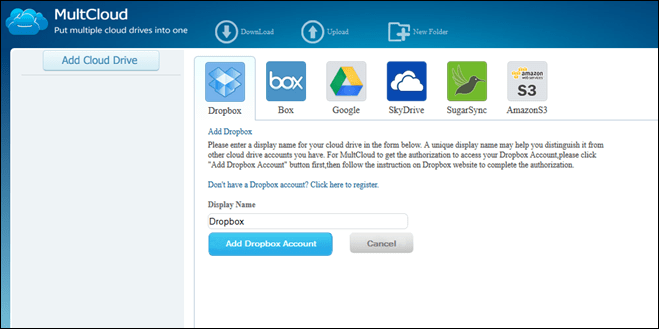 Put Multiple Cloud Drives into One with MultCloud