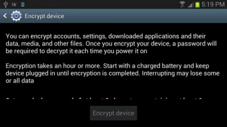 android-encrypt-device