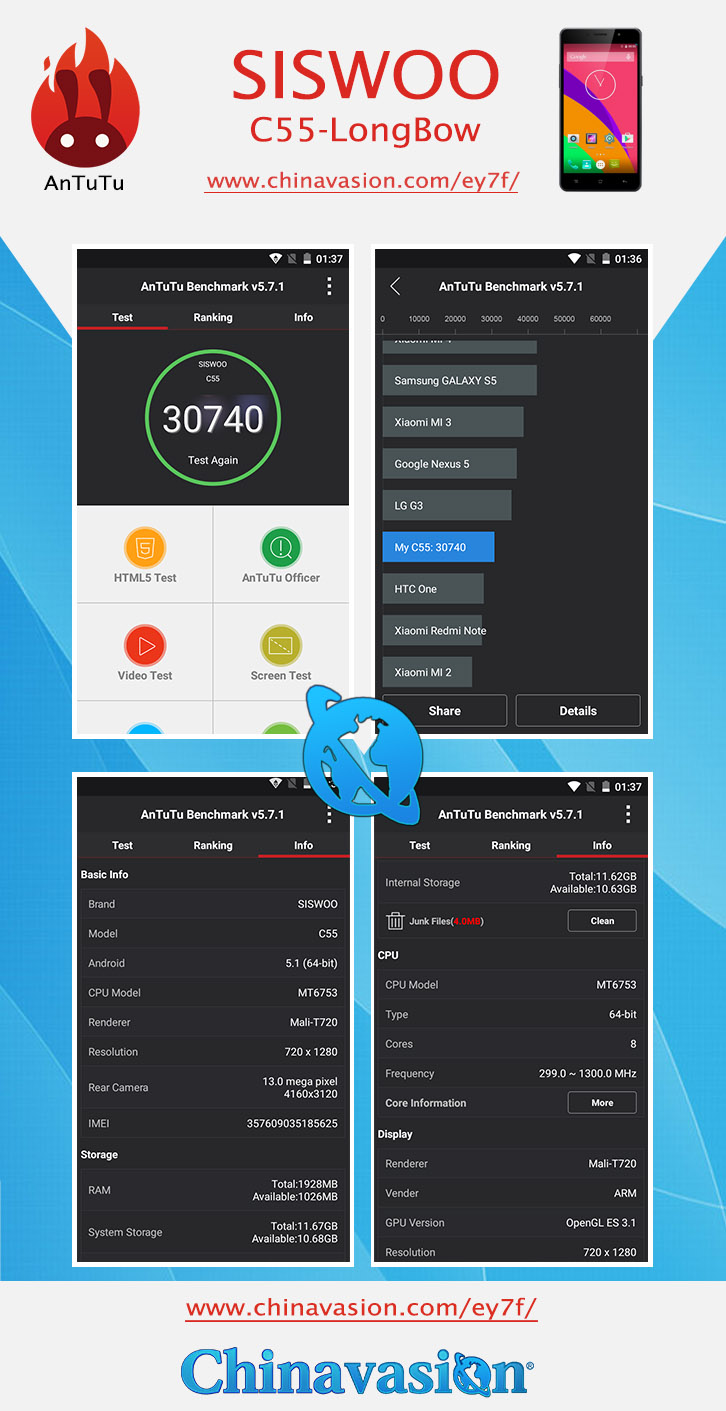 Siswoo C55 Longbow 5.5 Inch Smartphone