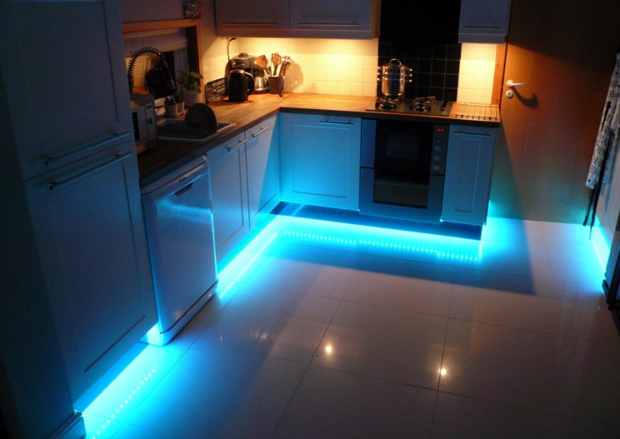 LED Strip Light Ideas To Lighten Up Your Home - Kitchen plinth lighting ideas