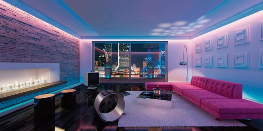 led strip lights for living room