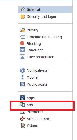 paramètres des annonces Facebook