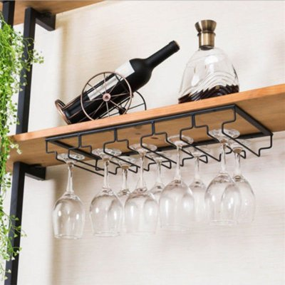 Iron Wall Mount Wine Glass Hanging Holder