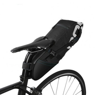 8L/10L Bike Bicycle Cycling Waterproof Pannier Bag Saddle Rear Seat Carrier Portable Seat Pouch Package black_Basic models 8L