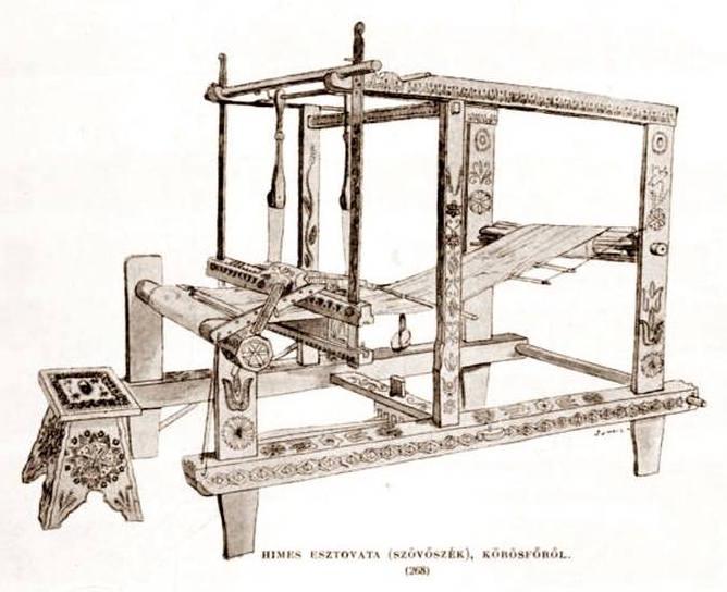 Esquisse d'un métier à tisser ©Satele din Romania