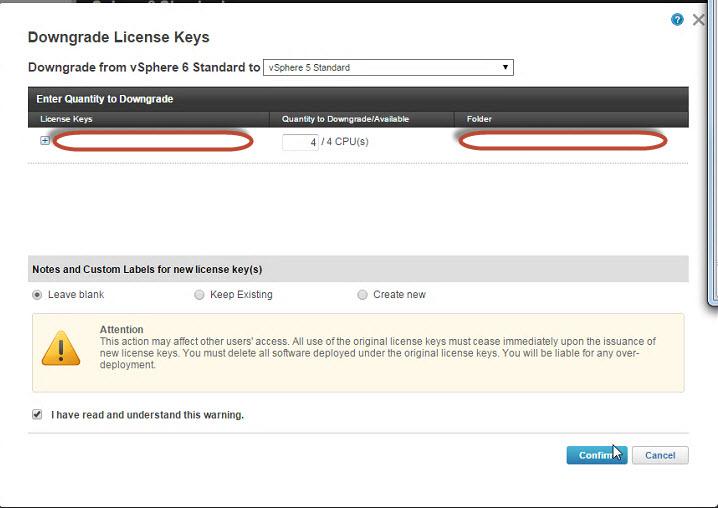 License error: 5 when adding vSphere 6 license to vCenter 5