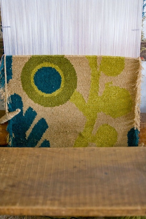 Woven in wool on the loom: Rug in production Chris Haughton 2011