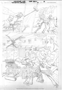Strikes #18 Title Page pencils
