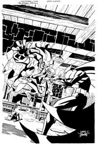 Batman Strikes #28 Cover Inks