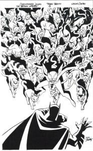 Batman Strikes #13 - cover inks