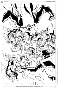 Young Justice #14 - cover rough 2