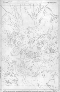 Young Justice #14 - Cover Pencils