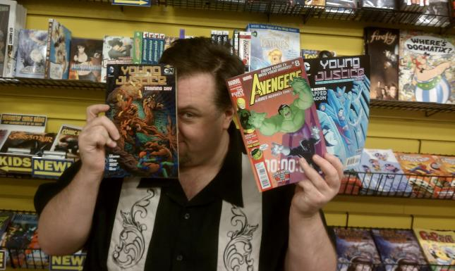 At The Source Comics and Games with my current comics.