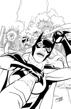 Young Justice #24 cover inks