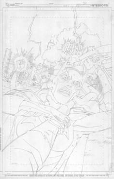 Young Justice #24 cover pencils