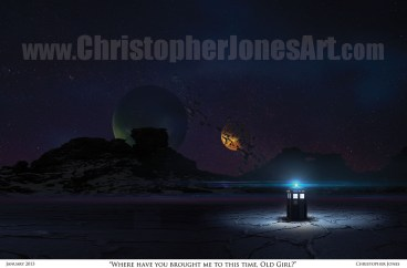 TARDIS on Alien World - Framed Print prev