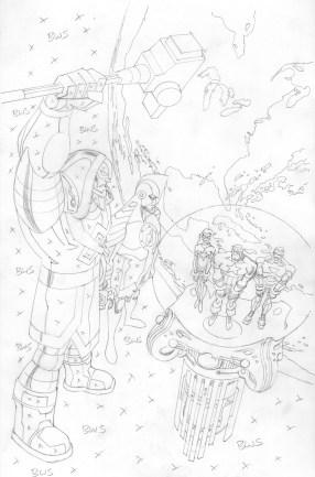 Avengers EMH - Ronan Cover pencils 100