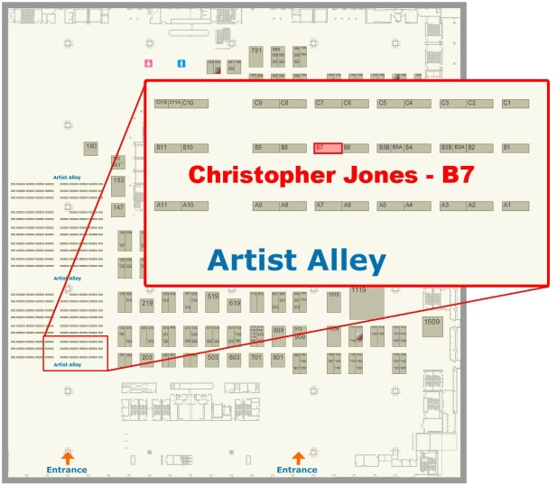 C2E2 2013 Artist Alley Floor Map
