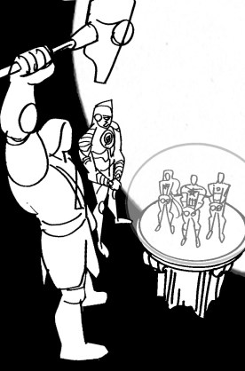 Ronan & Mar-Vel cover sketch b