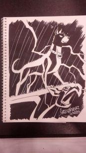 CCE13 Sketch - Ace the Bat Hound