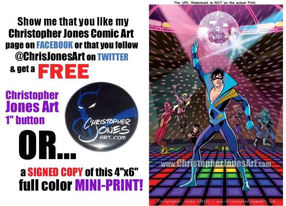 Get a free Disco Nightwing mini-print at Cincinnati Comic Expo!