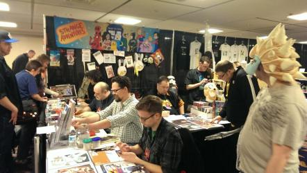 Comic Artists signing at Strange Adventures booth