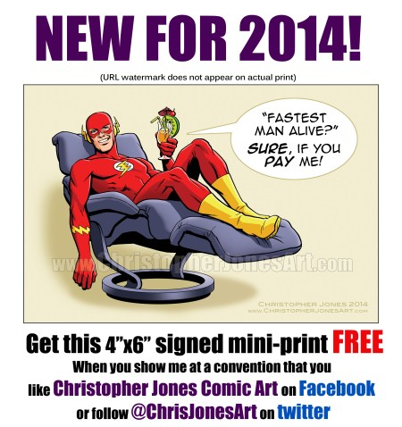 Fastest Man Alive FREE MINI PRINT at Cincinnati Comic Expo