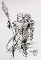 Sketch - Aquaman & Mera