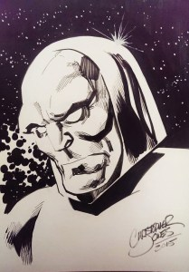 Sketch - Darkseid headshot