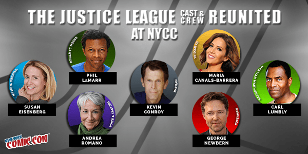 Promotional Image for Justice League Reunion Panel at NYCC