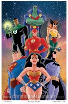 Justice League art print by Christopher Jones