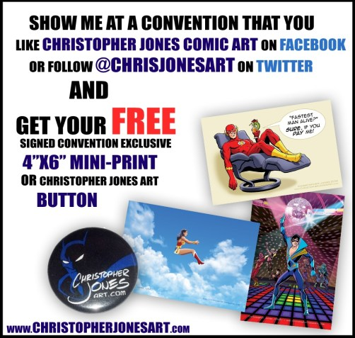 Showing all 3 mini-prints and button