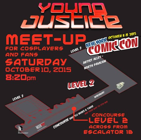 Map for NYCC 2015 Young Justice meet-up