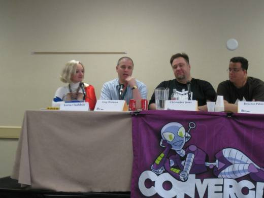 This is how you'll usually find Greg Weisman at CONvergence: on a panel