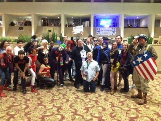 Greg and me with Young Justice fans at CONvergence 2014