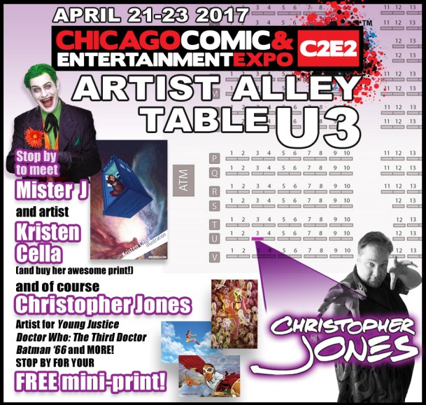 Map to find Christopher Jones at C2E2 2017