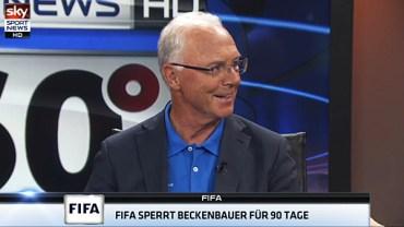 Franz Beckenbauer bei Sky Sport News (Screenshot des Interviews bei Sky Sport News)