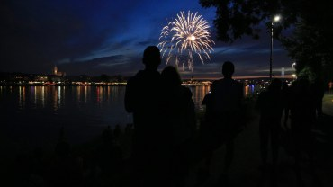 Feuerwerk über Mainz