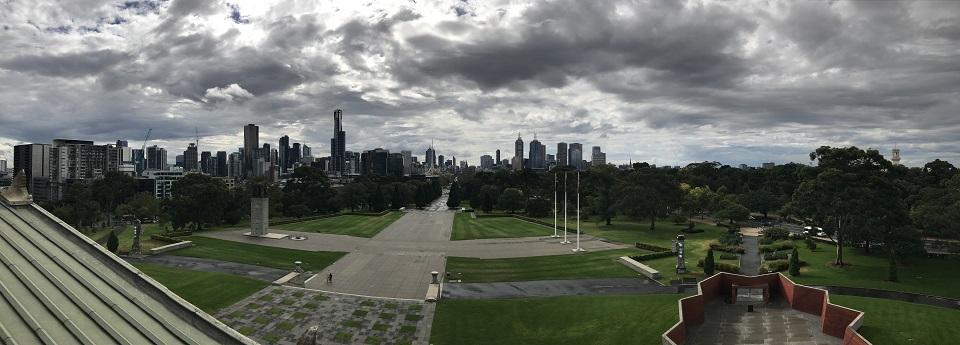 Melbourne City Skyline, Melbourne, Victoria, Australia