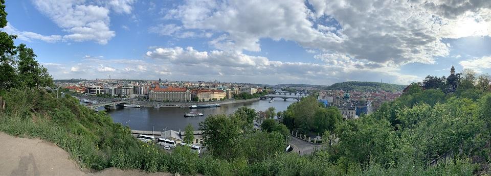 Mosty Vltavy z Letenská pláň, Praha, Česká republika
