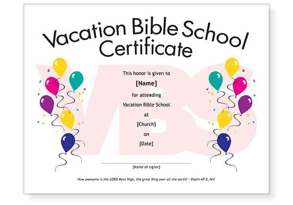 printable school certificate