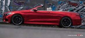 MB S500 Cabrio - Super Chrome Red Gloss - CiFol-Werbetechnik (4)