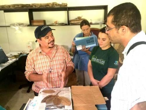 Reinaldo Aguilar explica las características de la flora de Osa.