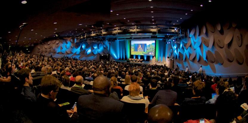 Plenaria de inauguración del Global Landscapes Forum 2015, París 5 de diciembre 2015. Foto: Pilar Valbuena/CIFOR.