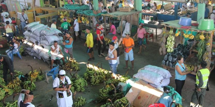 The market in Leticia, Colombia, where locals secretly trade bushmeat.