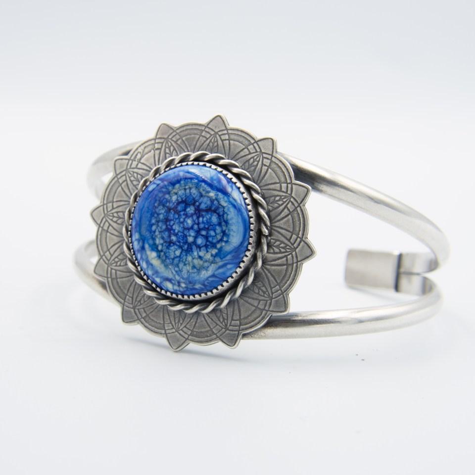 Delft Dutch Blue sterling silver cuff bracelet