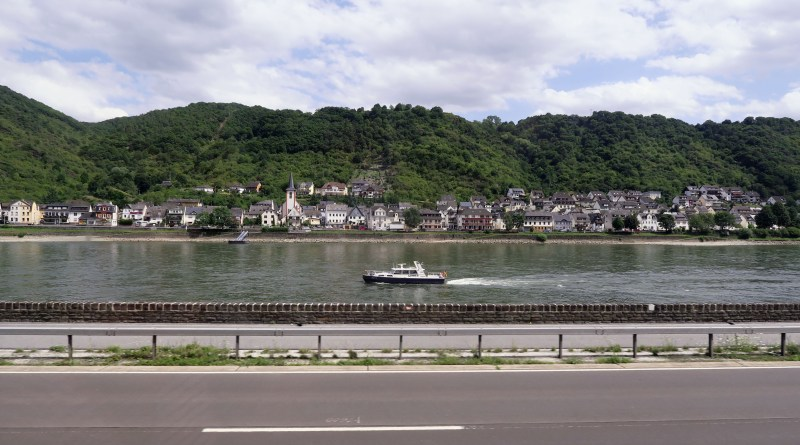 Small town beside the River Rhine